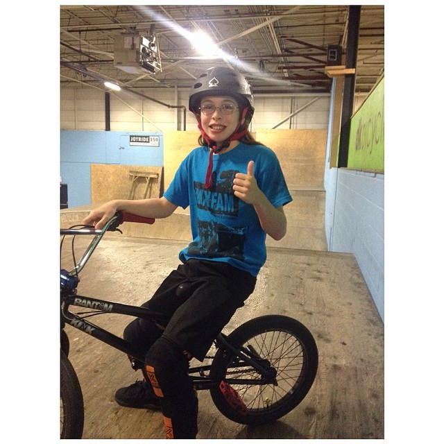 Check out 11 year old #bmxgirl @lily_bmx, who is part of our Insiders Program. She shreds! #bmx #riderowned #fdvclothing