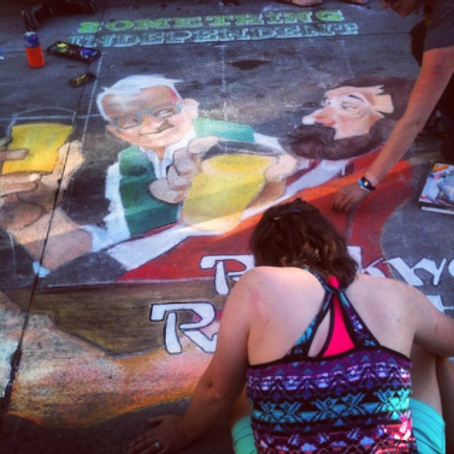 #chalkart @somethingindependent gets our vote.  #denver #art