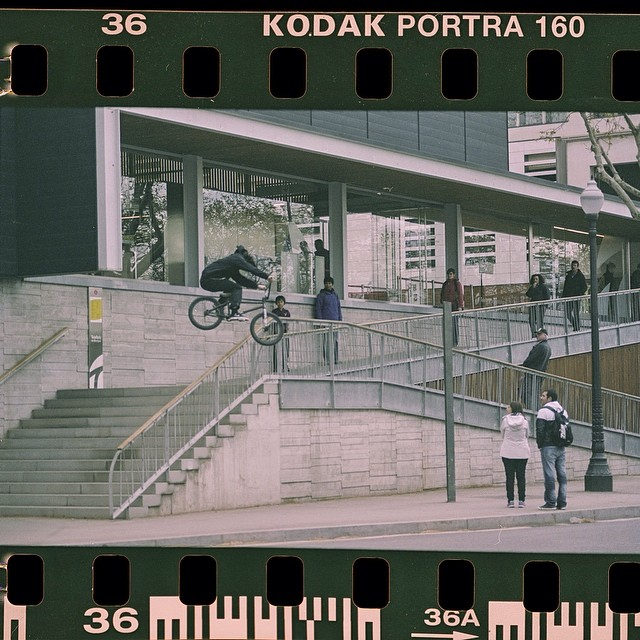 Off the rails. @simobarraco shot in 8mm around the streets of Barcelona. #bmx #simonebarraco #8mm #barcelona