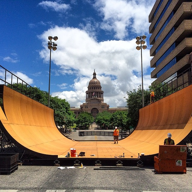 The backdrop for Thursday night to kick off #xgamesaustin !