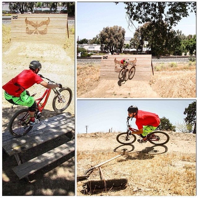 Ashton Smith having some fun on the track out back at Kali HQ! PC: Jeremy Provancher #kaliprotectives #kalitrack #ashtonsmith #bike