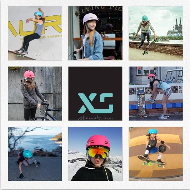 We love these girls! @cocomarii @ameliabrodka @sonsomasia @valeriakechichian #skatebikeboardski #xshelmets #girlshelmet