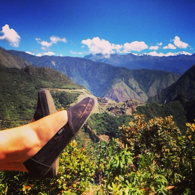 When in Peru, you need a good shoe // @jennfarmerfoto at #machupichu #versatility #soleswithsoul