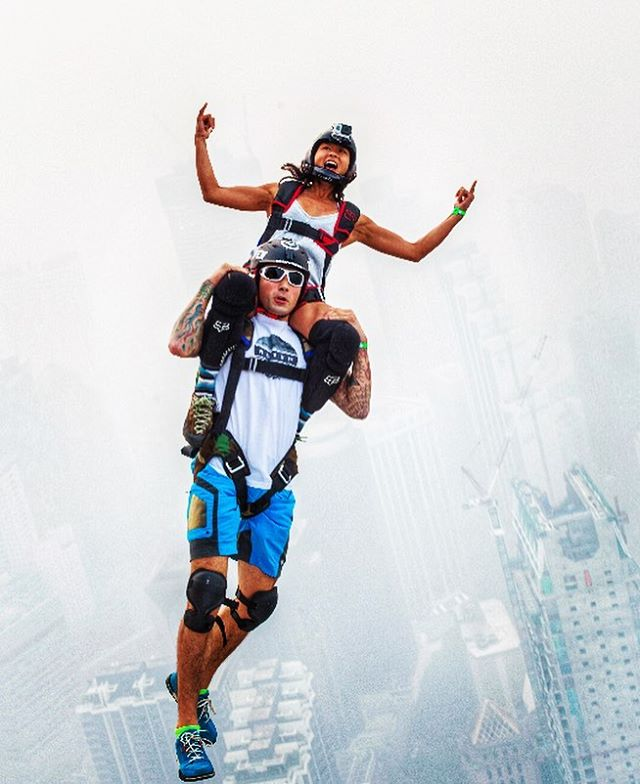 Teamwork makes the dream work. #whatsyourvision #hovenvision #alwayssunblocking #neverfunblocking #basejump