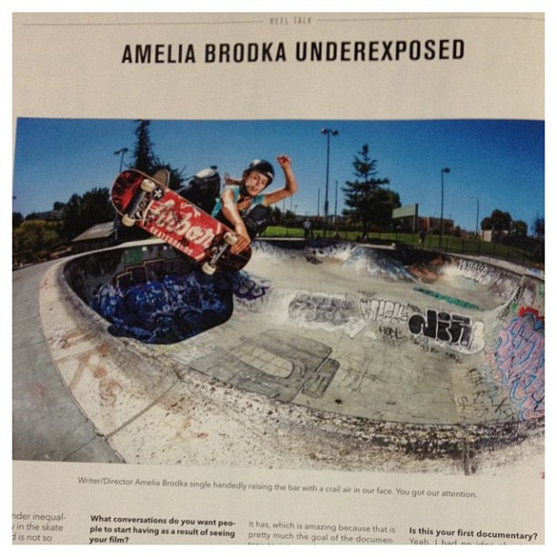 Rad photo of @ameliabrodka in the new #transworldskateboarding . #skateboarding #girlpower