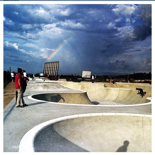 Regram @austin_poynter #oceansideskatepark #rainbow #oside #skatepark #concretedreams