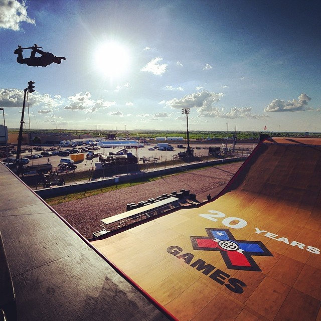 Testing Big Air! Day one of practice. #XgamesAustin  Photo @phil_ellsworth