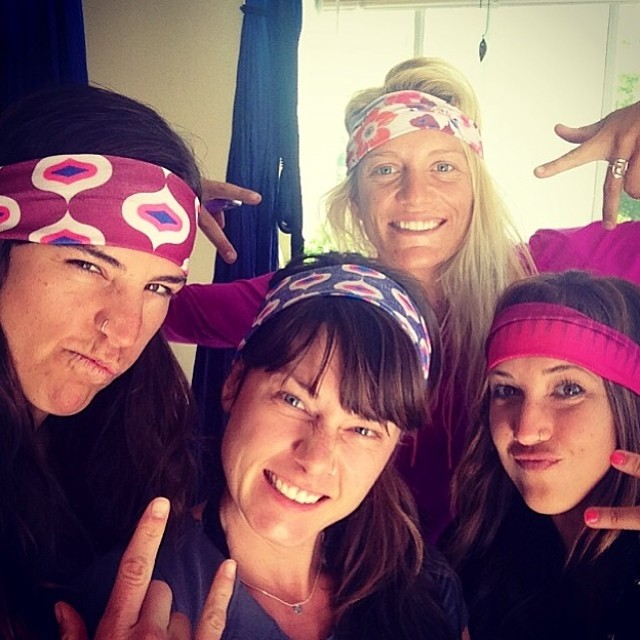 Hermanas & Headbands! Thanks to @hollizollinger for the handmade eclectic original headbands! You're the best sis ever!