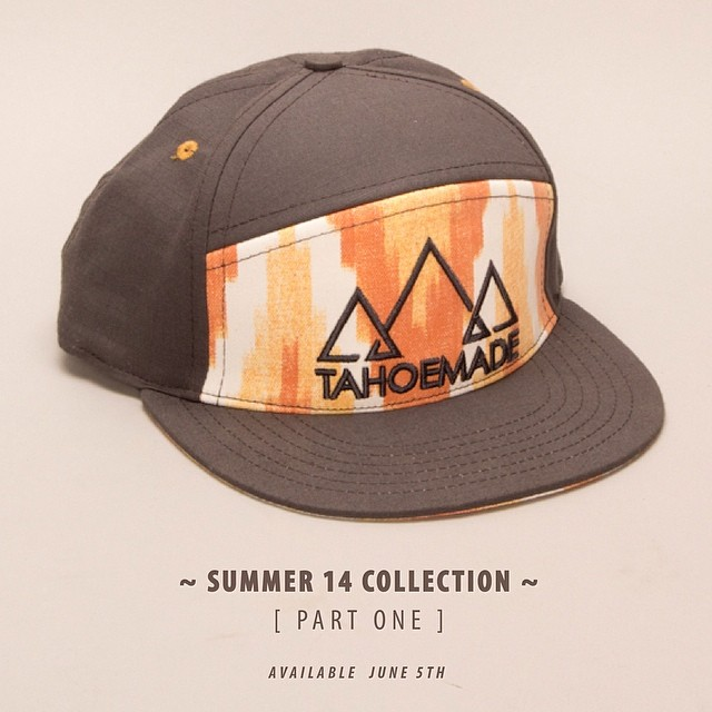 'S14 Part One ~ 06.04.14' The first wave of our new summer garb is set to launch tomorrow both online and at our retailers. Regram this photo and tag @tahoemade for your chance to win this cap. #tahoemade #S14collection #summervibes