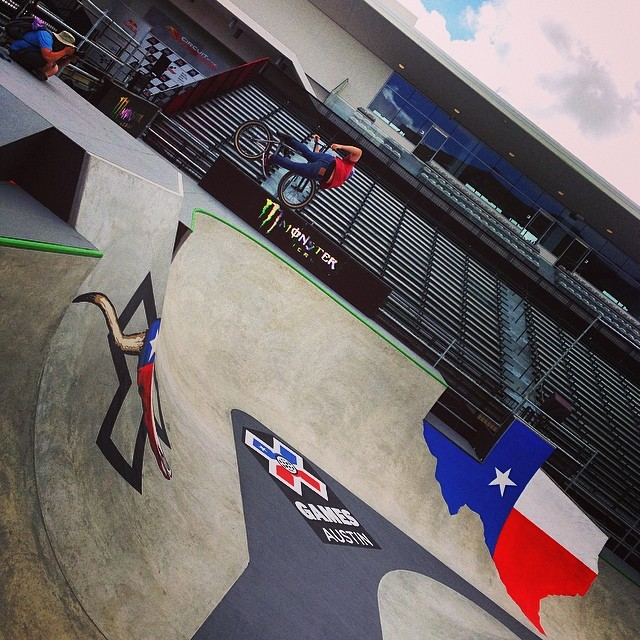 Starting off the day with BMX Park practice! #XgamesAustin