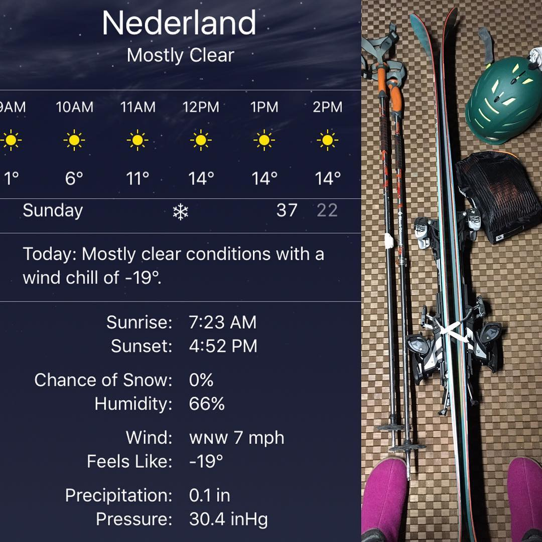 Skiing with girlfriends could have looked a bit different with a better temperature. #-19 no thanks!