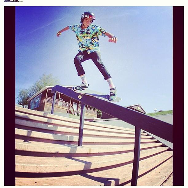 Regram @heimana_reynolds  #woodwardwest #skateboarding #feeblegrind #hawaiianstyle