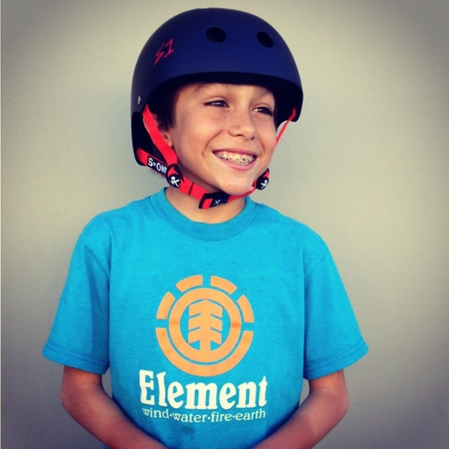 Big congrats to @asher_bradshaw for landing a 900 last week at @woodwardwest . #skateboarder Landing a 900 at 10 years old ! #foreshadowing into the future #s1helmets @elementskateboards