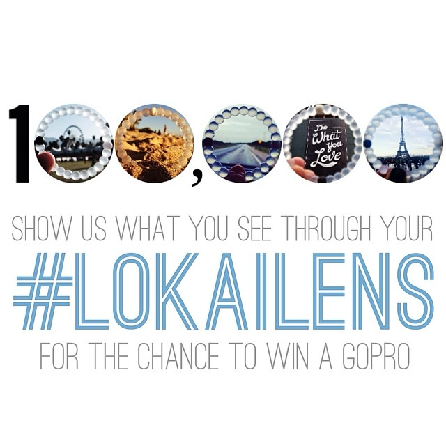 THANK YOU to every single one of our 100k followers who have made the lokai dream a reality. To show our appreciation we are giving away a GoPro camera!  Share a pic with #LOKAILENS to enter - we will pick a winner at random and announce Friday 6.13....