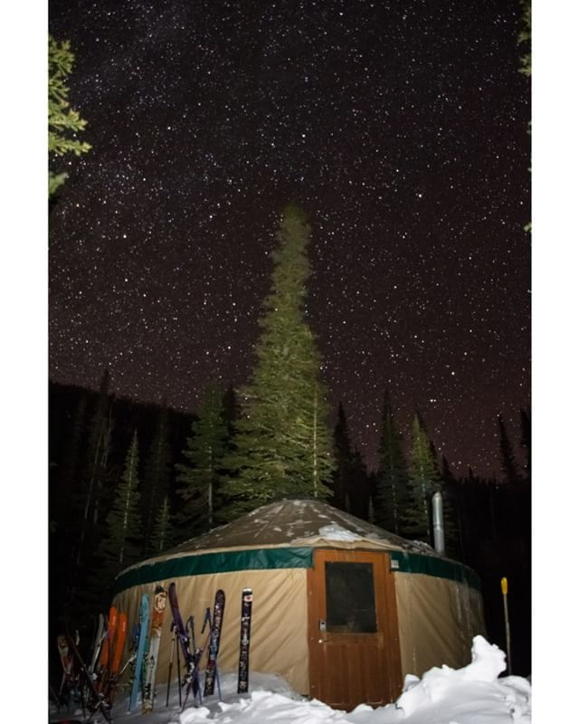 Tele goddess ambassador @tele_madi taking over our instagram this week! //Shoutout to @colleenwinn___ for staying up late and getting this night exposure of the yurt! The second night the clouds started to part and we woke up that third day to the most...