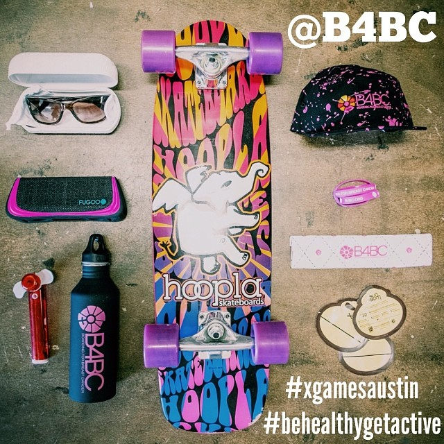 "WIN B4BC'S X GAMES SURVIVAL PACK!  We put together our favorite stuff we need for #XGamesAustin, and you can win it no matter where you are!  Post a new photo showing us how you live healthy & active and tag: ""@B4BC #XGamesAustin & #behealthygetactive""..."