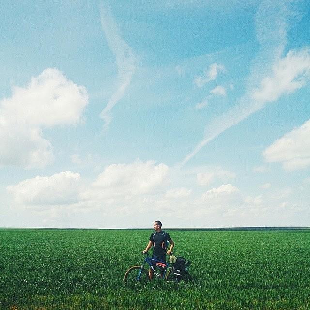 Open fields and blue skies. Definitely summer essentials. #firewaterfriends #summer #biking //