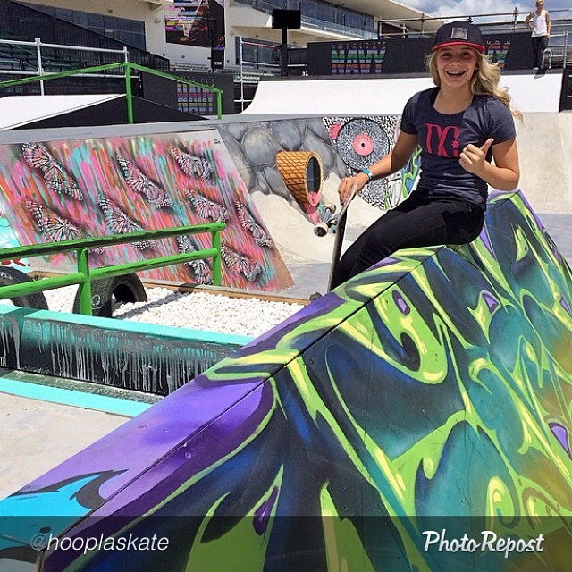 @alanasmithskate taking it easy for the moment on the @xgames street course. Women's Street is slated for Sunday at 11am PT. Coverage on #ESPN3 and #ABC. #skateboarding #skate #skatelife #xgames