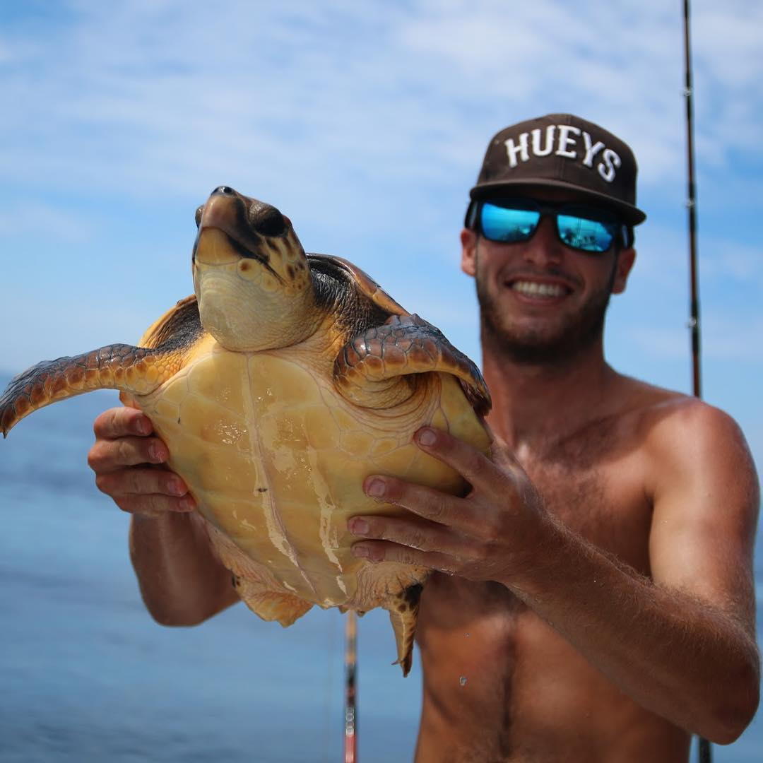"""@jarreddavidson_ updating the meaning of the term """"shell shocked"""". Rocking the Futures with Tahoe blue polarized lenses. Ideal for cutting through the open water out on the pond. #whatsyourvision #hovenvision #alwayssunblocking #neverfunblocking..."""