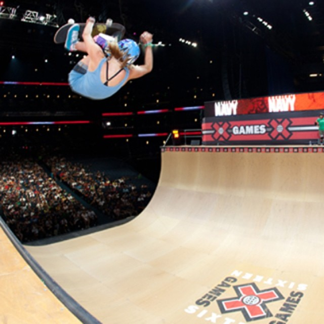 #ThrowbackThursday to Lyn-z Adams Hawkins in 2010, the last time Women's Vert was contested at @xgames. Gaby Ponce won gold, Lyn-z took silver and Karen Jonz won bronze. #skate #skateboarding #skatelife #vert #skatevert #xgames