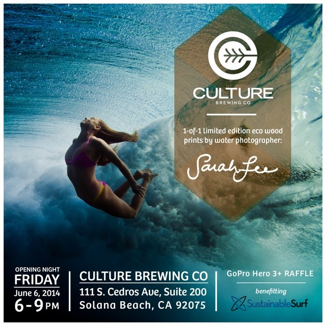 Super stoked to be included in Sarah Lee's photo exhibition at Culture Brewing Company opening this friday. Sarah's photos are incredible, and for the show they are being printed on wood and coated with sustainable Super Sap resin. Sales will benefit...
