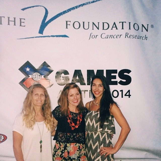 We made it to #XGamesAustin! B4BC's team @itsblairyoung, @erikaseward & @lizatags were happy to be able to support The V Foundation with @ESPN last night, feat. guest musician @PhillyGLove! Stay tuned, we'll be posting updates onsite at #XGames from...