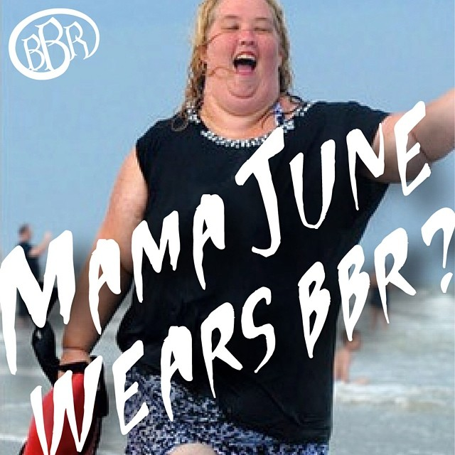 BBR news. Honey Boo Boo's mom was supposedly spotted purchasing BBR boardshorts at a Surfshop in Florida.  Good or bad?  #honeybooboo #mamajune #bbr #bbrsurf #boardshorts #surfshop