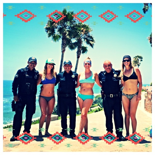 #TBT to last weekend in Mexico. #localhoneydesigns was south of the border and had a little run in with the policia.  It ended with smiles and gratitude from both sides. ✨We highly recommend retreats with @stoked_yogi ✨