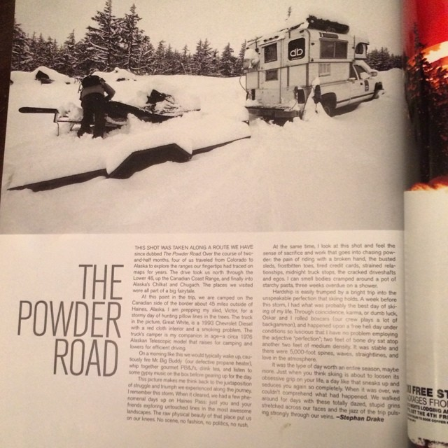 #tbt from the @powdermagazine archives, circa 2006's #photo annual. #dpsskis founder Stephan Drake penning an article from his second year on the #powder road.  Over the course of two and a half months the crew traveled from #Colorado to #Alaska to...