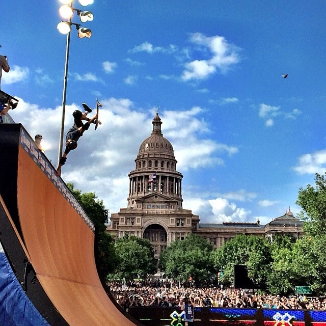 #XGAMESAustin has officially begun, and we're catching some great views of Vert skate in front of the Capitol building!  Be sure to check out our #behealthygetactive contest on Instagram posted yesterday to win our epic #XGames essentials kit!