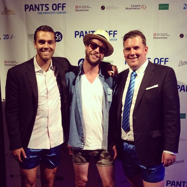 Taking our pants off for Prostate Cancer! #MyPakage is the official underwear sponsor  @prostatecancerc @kevinjamesshaw @dezprice @chewyalexander #pantsoffyvr #pantsoffdanceoff #permissiontoplay