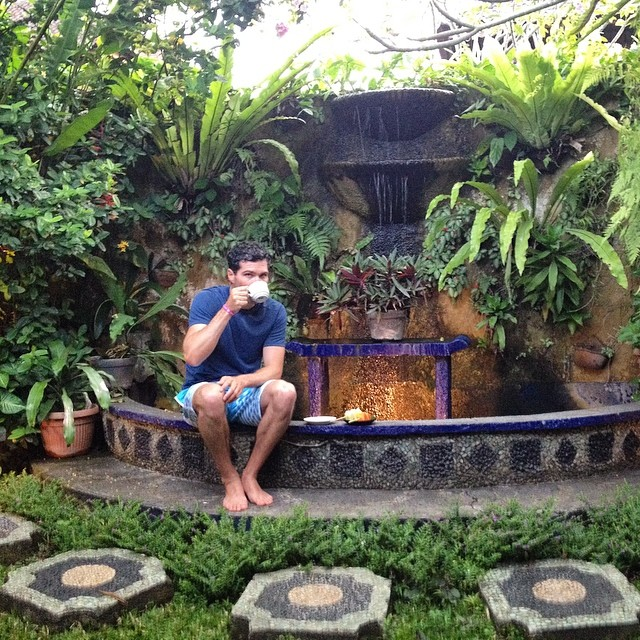 .@mcelberts enjoying some post #massage tea - he's for sure in his #happyplace #zengarden #ubud #bali #indo #wanderlust #travel #exploremore #teatine