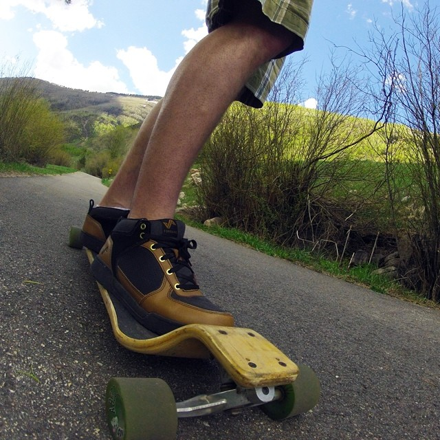 @zchcollins takes his longboard out with a fresh pair of Warrants