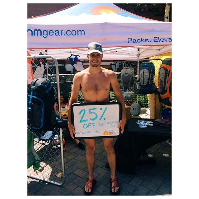 Bear is supporting our Hike Naked Summer Promo by offering 25% off to those that come see us at @gopromtngames! For those that can't make it, enter to win at: www.eaglesnestoutfittersinc.com/blog/hike-naked-summer-promo/ #hike #naked #indecentexposure...