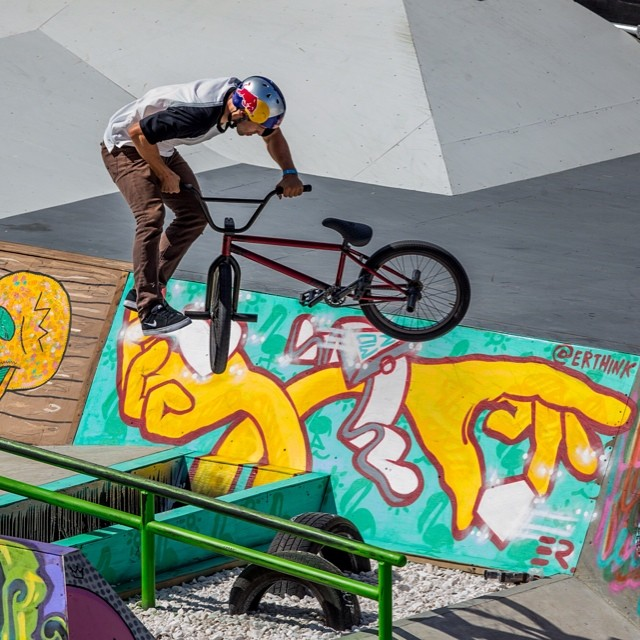 @reynoldsfiend adding to his GOLD medal count. #xgamesaustin  Photo @petermorning Course art @spratx