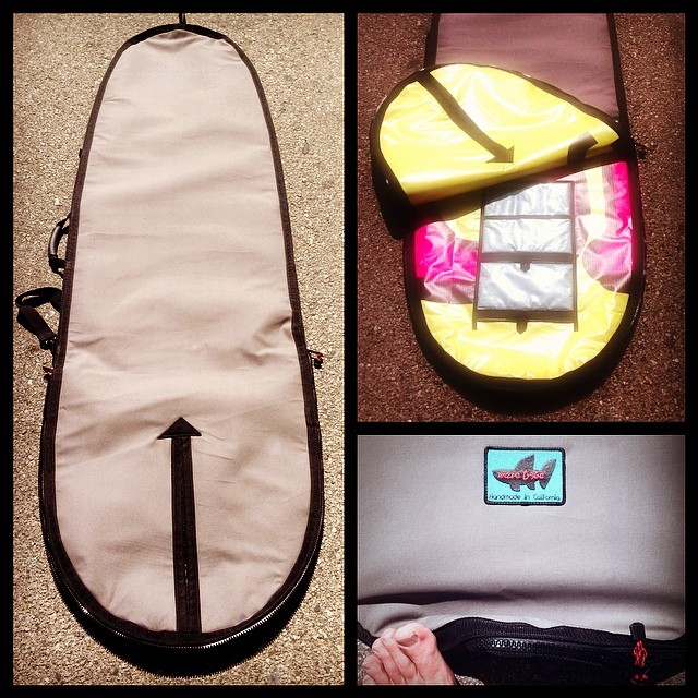 Wave Tribe custom #boardbag for mini mal on its wY to France. #madeinusa