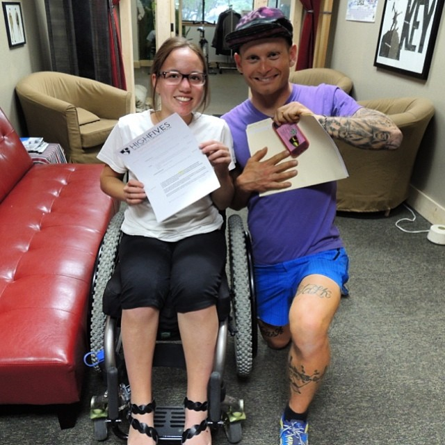 Congratulations to #HighFivesAthlete Sophie Coudurier on your grant to be used for your trip to @BeyondTheChair1 |#WinterEmpowerment #DreamTrip