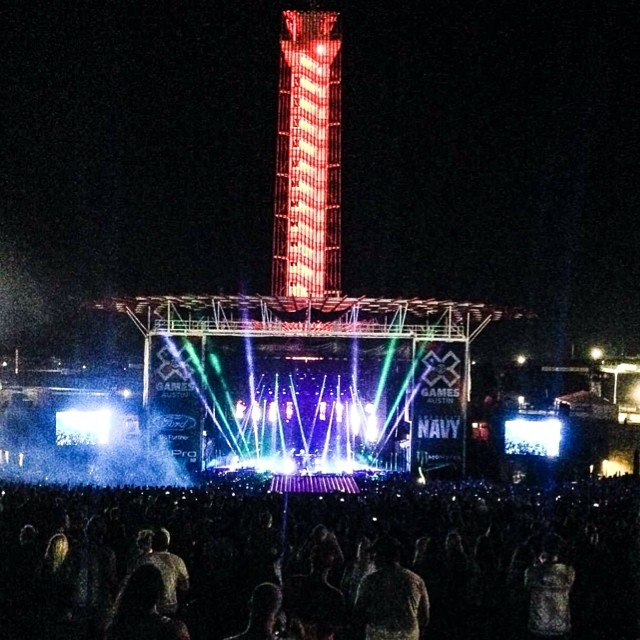 You still awake? @prettylights bringing down the house on Friday night! #xgamesaustin