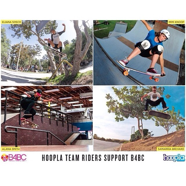@HOOPLAskate team signing at the #B4BC booth TODAY!! Come get educated with B4BC in the #ESPN Clubhouse zone at 5pm at #XGamesAustin, and meet Hoopla riders @knoopdogg, @alanasmithskate, @eliana_sosco & @samarriabrevard! See you there!...