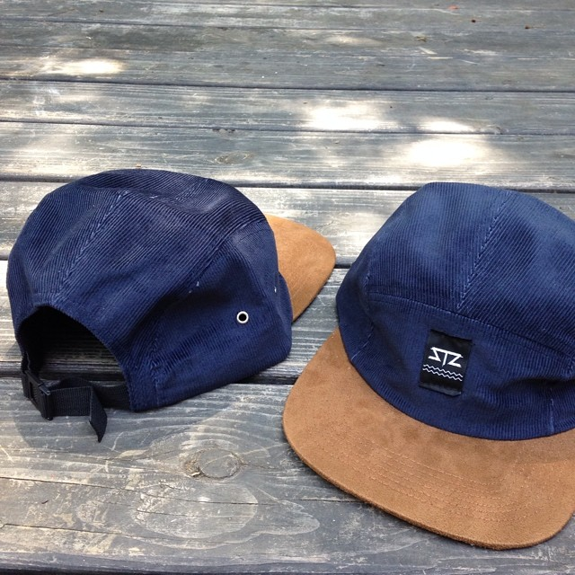 Only 2 left!!! Two of 6 still up for grabs // email info@mystz.com to claim one // navy cord brown suede with plastic clip strap back // $30 #stzlife #limited #5panel #camper #exploretheweekend #partyonwayne