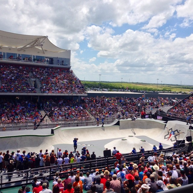 Packed house for Skate Park! Where are you watching from? #xgamesaustin