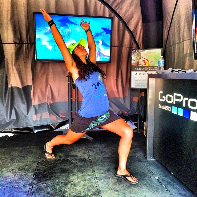 Saluting my 2nd place at @gopromtngames sup sprint race for day 7 #mermaidyogis #yogachallenge! @zengirlmandy @stoked_yogi @olympussup @thesupyogi @localhoneydesigns @indo_board