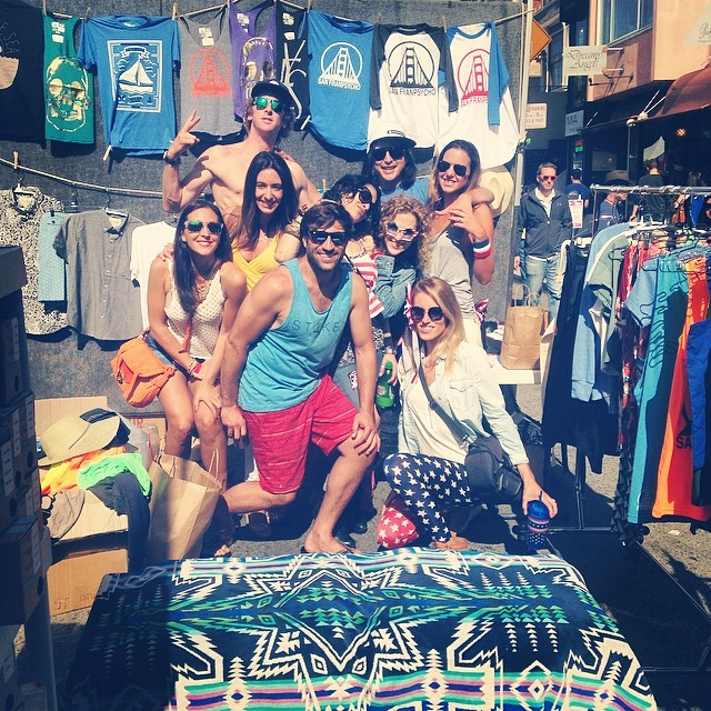 Unity on Union St. Friends until the end. @sanfranpsycho catching some rays and selling stuff. @andyolive