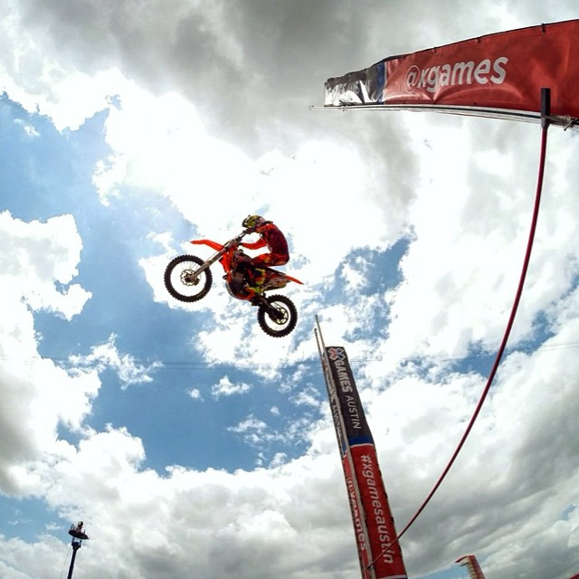 @rendawgfmx how's the view up there? #goldview #xgamesaustin #gopro
