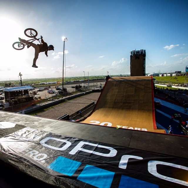 The show must go on. Flip over to @espn and watch the worlds best battle it out in BMX Bir Air. #XGamesAustin