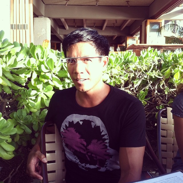 #google glasses and #Organik #shark #palms #bamboo tee #waikiki #hawaii #luckywelivehawaii
