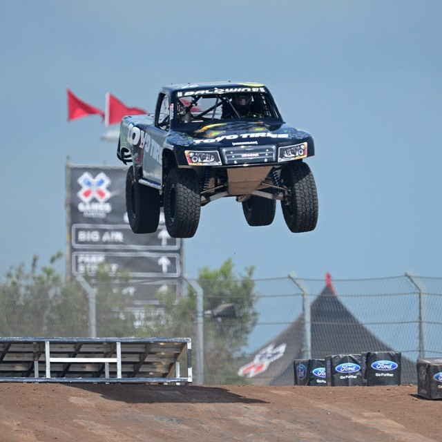 Stadium Super Trucks is about to make it's X Games debut! LIVE in Austin. (Photo: @phil_ellsworth)