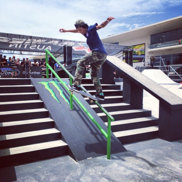 And here's @trevorcolden front blunting with ease. #tonyhawktakeover #xgamesaustin