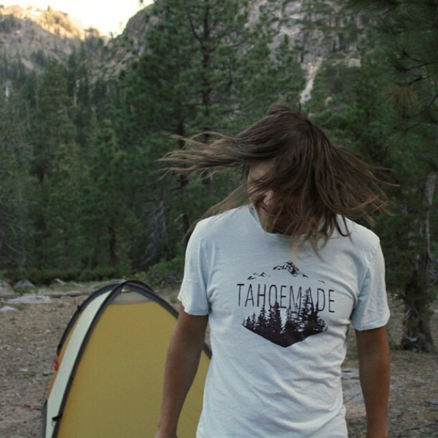 Hope everyone was able to enjoy the outdoors this weekend like the Hays T in its natural environment. // This tee and the rest of our summer line is stocked online and at local retailers www.TahoeMadeAttire.com // #tahoemade #summerishere #thisistahoe