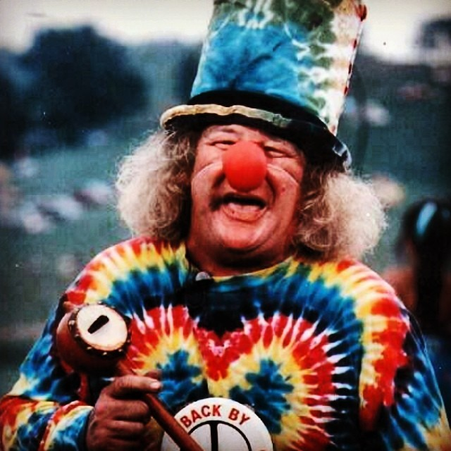 Although we can't promise that this guy will be at the #haightstreetfair on Sunday, we CAN promise that we will be there with @Indosole .  And, we can pretty much promise this guy will be there too,  #summeroflove #tiedyeneverdies #oxymoron #kindafancy